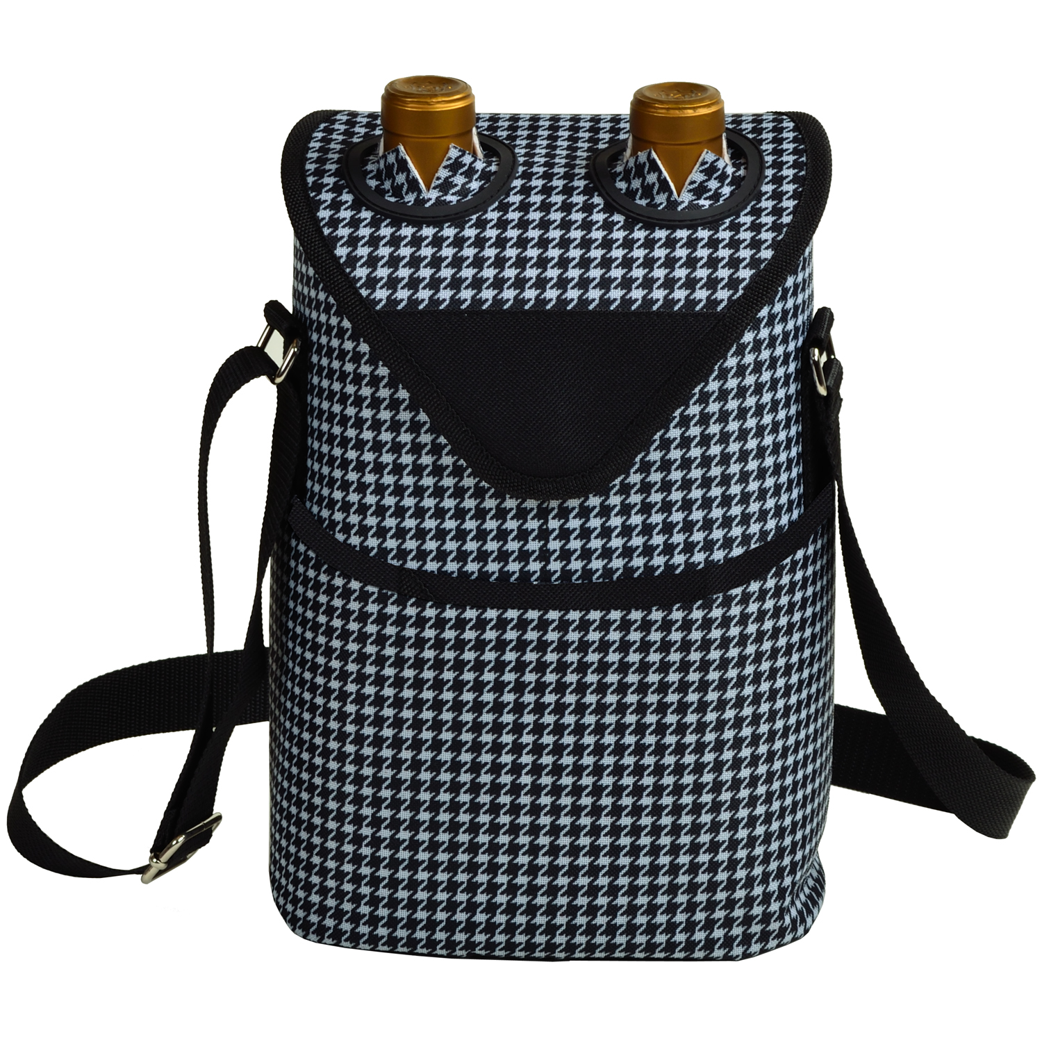 Picnic At Ascot Insulated Wine Water Bottle Tote With