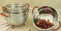 Cookpro Stainless Steel 7 Qt Colander With Red Handle