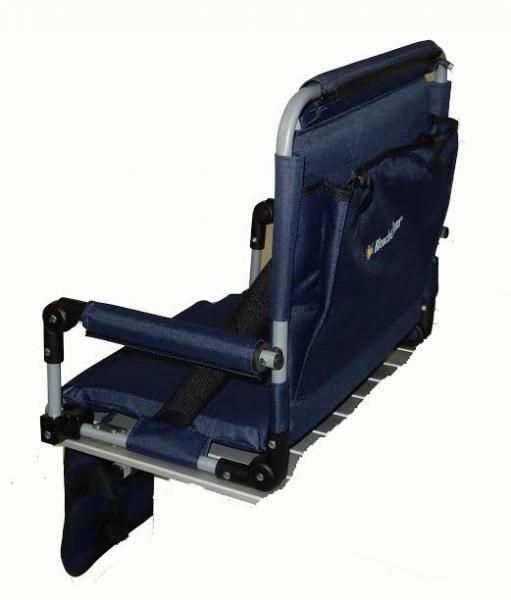 Pacific Import Original Bleacher Bum Portable Folding Stadium Seat, Navy Blue