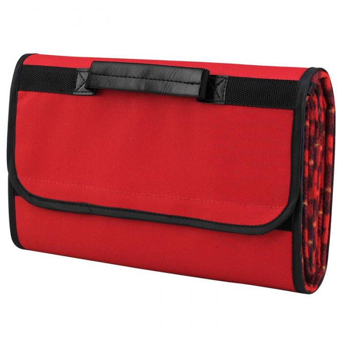 Picnic at Ascot Outdoor Picnic Blanket with Waterproof Backing -Red Plaid