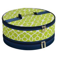 Picnic at Ascot Pie/Cake Carrier - Trellis Green
