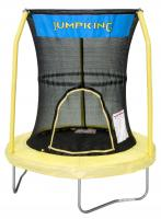 "Bazoongi Kids 55"" Trampoline w/ 3 Poles Enclosure System (Yellow)"