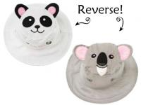 Luvali Convertibles Panda/Koala Reversible Kids' Hat Medium