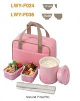 Tiger Lunch Box Bento Set 0.75L Includes Thermal Rice Natural Pink