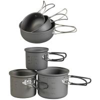 NDuR Essentials Cookware Mess Kit, Anodized Aluminum, 6 Piece
