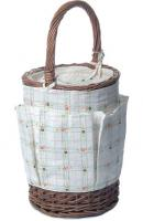 Picnic & Beyond Country Time Willow Cooler Wine Basket