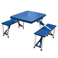 Picnic Time Picnic Table, Portable w/ 4 Seats, Royal Blue