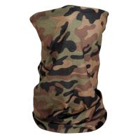 ZANheadgear Fleece Lined Motley Tube -Woodland Camo-High-Vis
