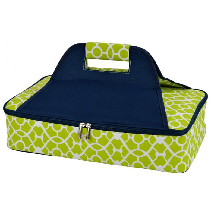 Picnic at Ascot Insulated Food Carrier - Trellis Green