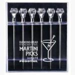 Prodyne Diamond Head Martini Picks Set Of 6 - Exquisite