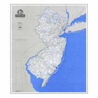 Laminated Stream Map of New Jersey