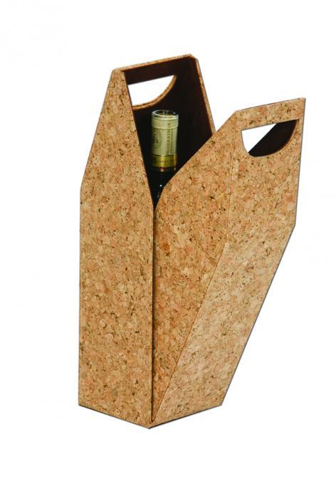 Picnic Plus Single Bottle Wine Box - Cork