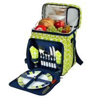 Picnic at Ascot Equipped Picnic Cooler for 2 - Trellis Green
