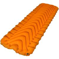Klymit Insulated Static V Lite Camping Pad, Orange/Gray, Regular