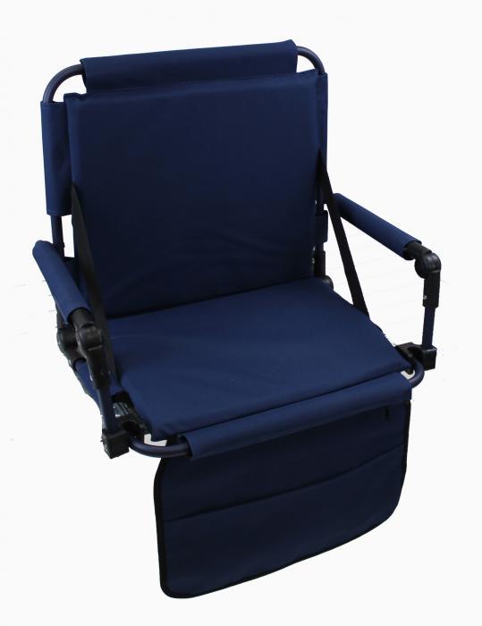 Pacific Import Original Bleacher Bum Portable Folding Stadium Seat, Navy Blue