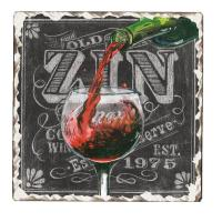 Counter Art Chalkboard Wine Tumbled Tile Coasters Set of 4