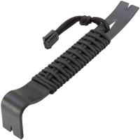 Schrade SCHPB1BK, Pry Bar w/Black Paracord Wrap, Black Coated