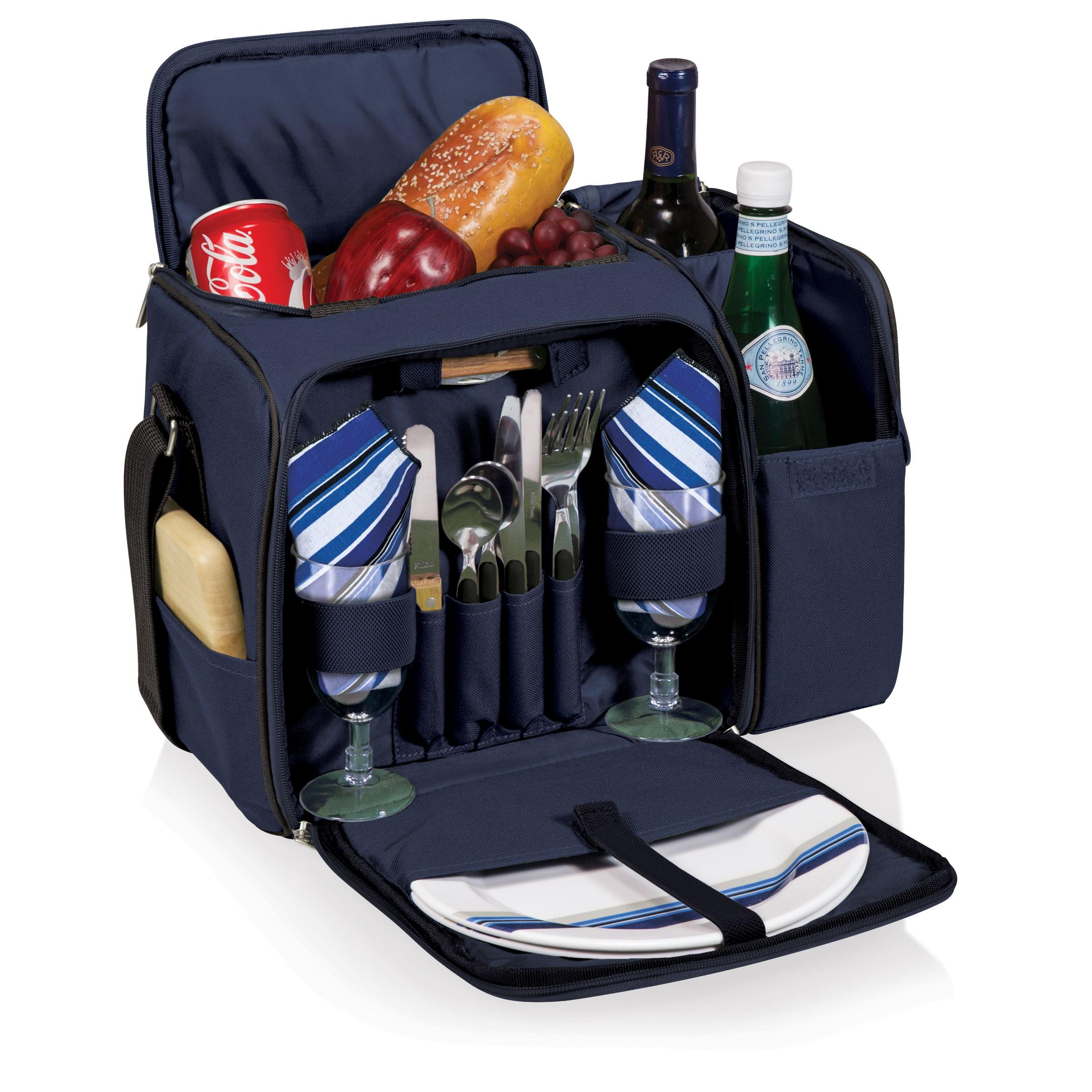 Picnic Time Malibu Shoulder Pack W Deluxe Picnic Service