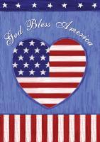 Toland God Bless U.S. Garden Flag