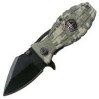 MTech Ranger Grenade Handle Rescue Folder Spring Assist Knife