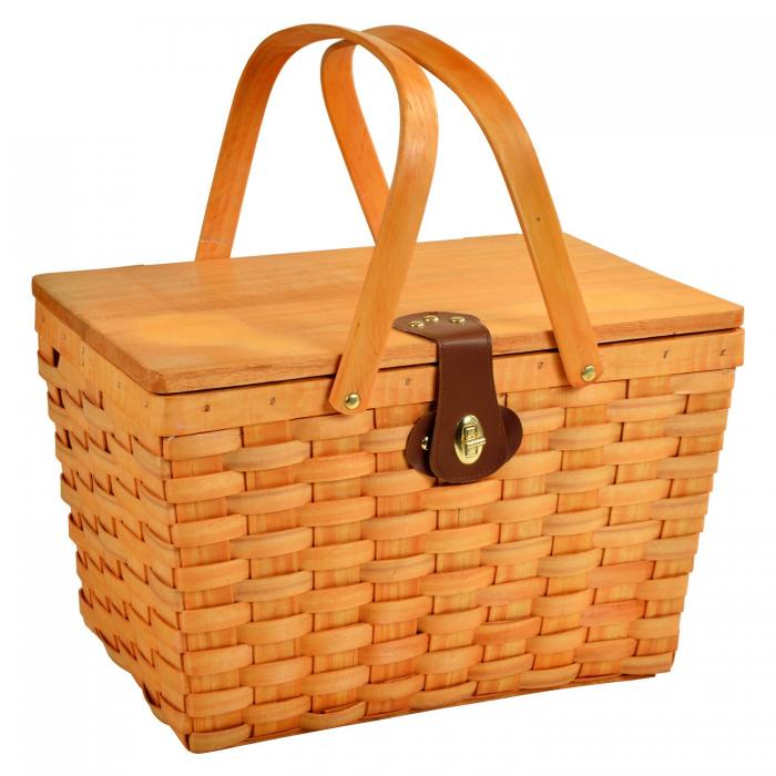 Picnic at Ascot Frisco Traditional American Style Picnic Basket with Service for 2 - Diamond Orange