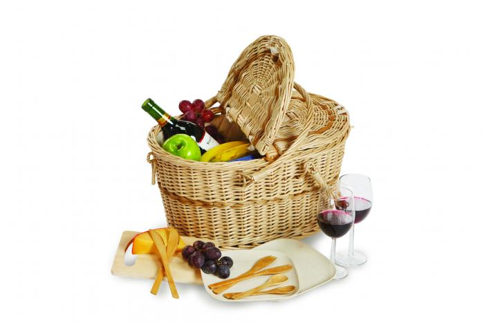 Picnic Plus eco Creston Basket for 2, Stone Lining