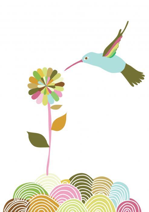 Tree Free Greetings Hummingbird Play Thank You