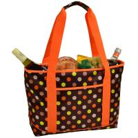 Picnic at Ascot Large Insulated Cooler Bag - 24 Can Tote- Julia Dot