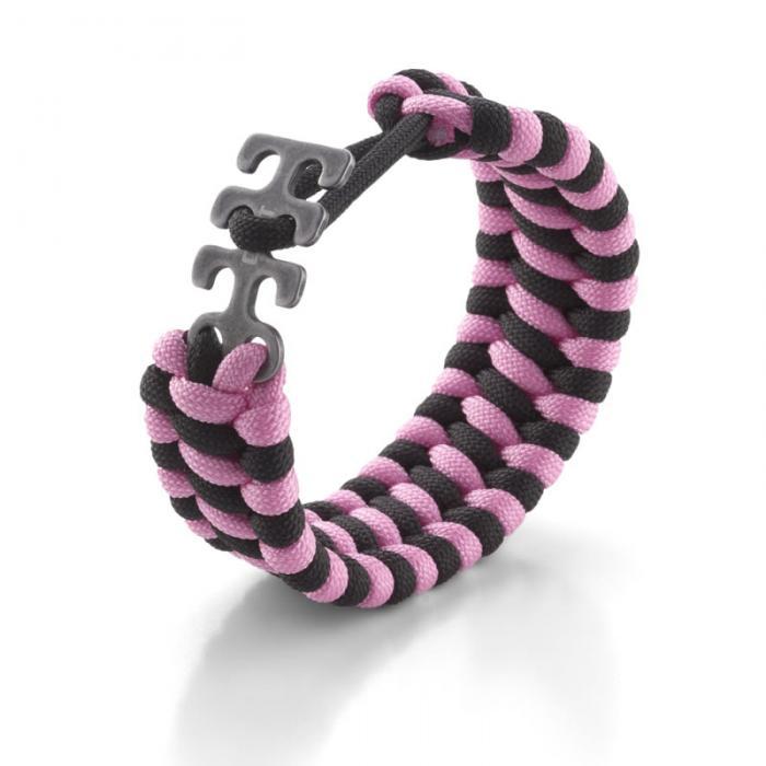 Columbia River (CRKT) Adjustable Paracord Bracelet - Pink/Black