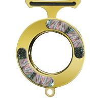 Mantis Vicious Circle, Stainless Steel, Gold With Abalone Onlay