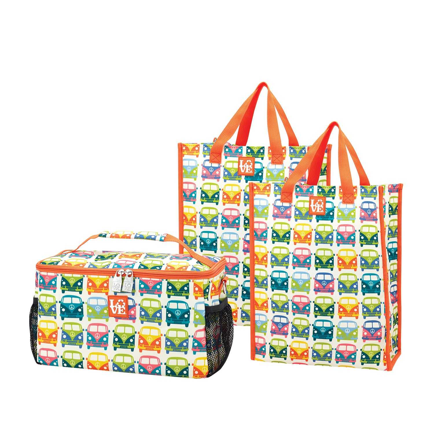 Love Bags Love Bus Chill Set 3 In 1 Cooler Tote Set