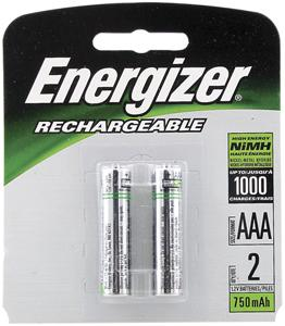 Energizer NH12BP-2 Rechargeable NiMH Batteries (AAA 2-pk)