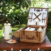 Picnic at Ascot Cheshire Basket for 2 w/blanket -Gazebo
