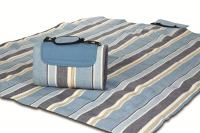 "Mega Mat Folded Mat Picnic Blanket with Shoulder Strap - 48"" x 60"" (Blue Chambray)"