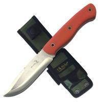 "Elk Ridge Fixed Blade Knife 4.75"" Blade-Orange Handle"