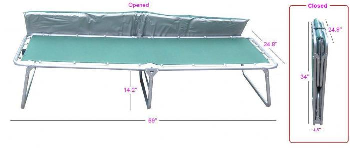 Gigatent Cot with Matress