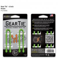"Nite-ize Gear Tie 6"" 2 Pack - Lime"