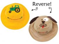 Luvali Convertibles Tractor/Dog Reversible Kids' Hat Medium