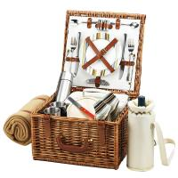 Picnic at Ascot Cheshire Basket For Two with Coffee Set & Blanket - Santa Cruz