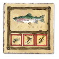 Counter Art Lake House Single Tumbled Tile Coaster