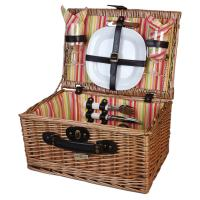 Picnic and Beyond Veranda Collection Willow Picnic Basket for 2