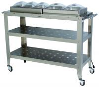 BroilKing Professional Grand Size Warming Cart w/ 3 1/3 Size Pans, 2 1/2 Size Pans & 5 Lids