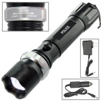 Police Tactical Led Weatherproof Flashlight