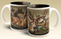 American Expeditions Deer Collage Coffee Mug