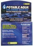 Potable Aqua Chlorine Dioxide Water Purification Tablets, 20 Tablets