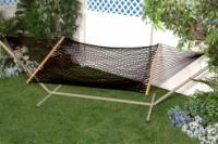 Bliss Hammocks Classic Cotton Rope Hammock - Black