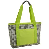 Picnic at Ascot  Large Insulated Cooler Bag - 24 Can Tote - Diamond Granite