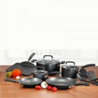 T-fal C136SC64 Signature Total Non-Stick 12-piece Cookware Set, Black