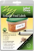 Jokari Erasable Food Labels Starter Kit, 70 labels