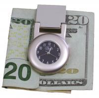 Chass Financier Money Clip Clock